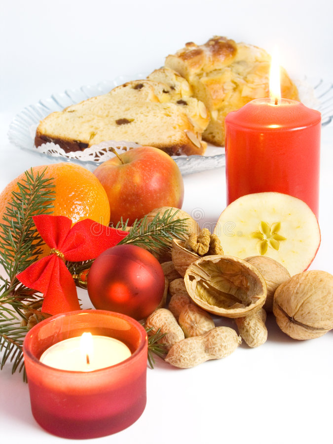 Weihnachtsnahrungsmittelnoch Leben lizenzfreie stockbilder