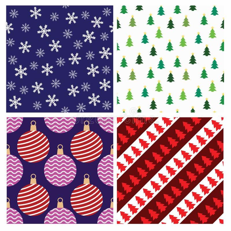 Weihnachtsnahtlose Muster lizenzfreie abbildung