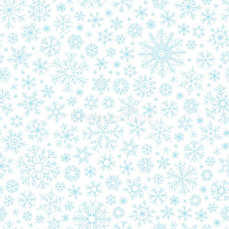 Weihnachtsnahtloses Gekritzelmuster mit Schneeflocken lizenzfreie abbildung