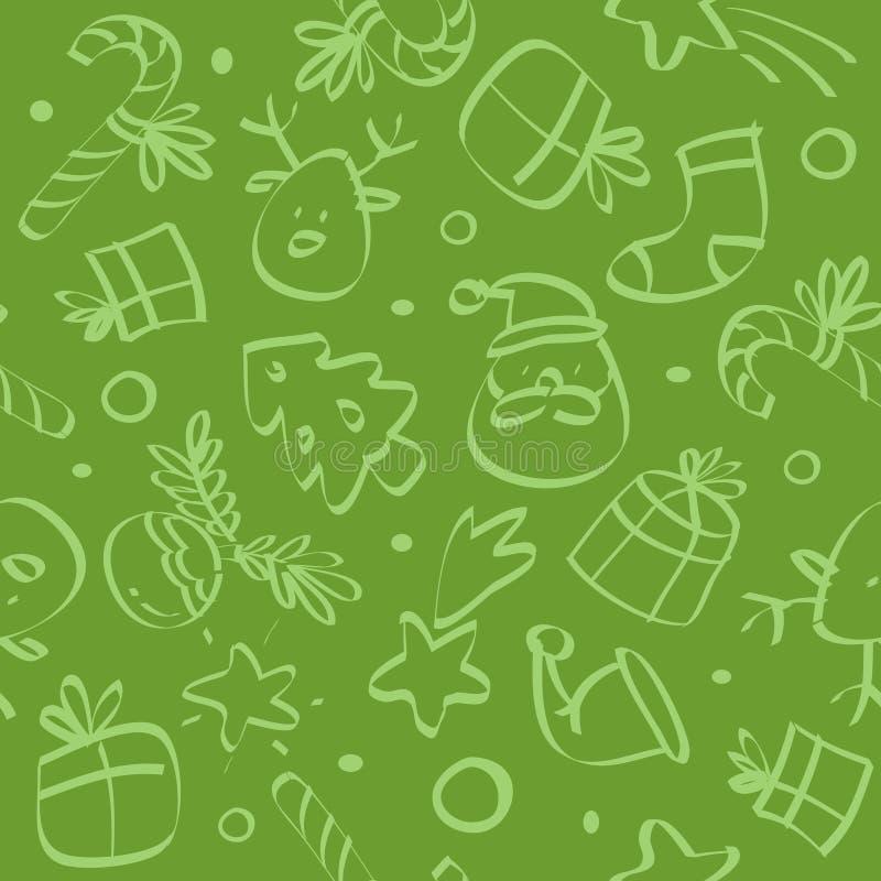 Weihnachtsnahtloses Muster vektor abbildung
