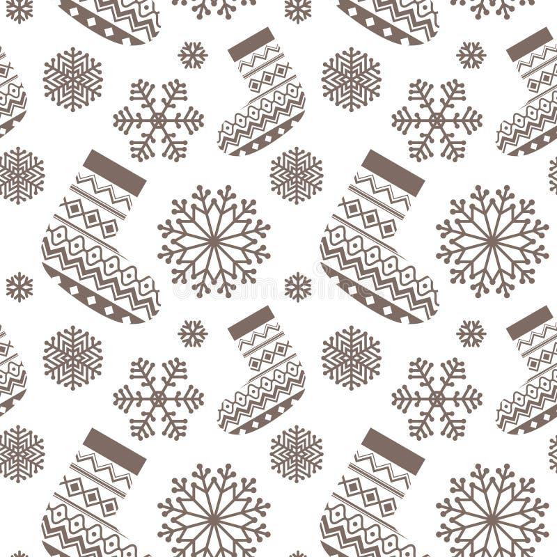 Weihnachtsnahtloses Muster stock abbildung