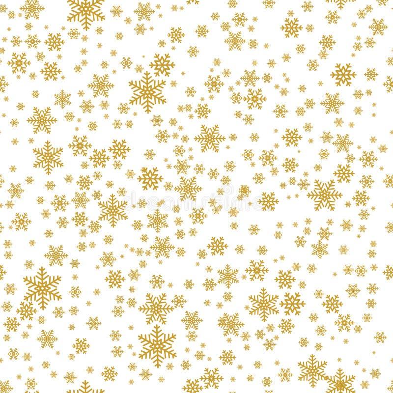 Weihnachtsnahtloses Muster mit Schneeflocken lizenzfreie abbildung