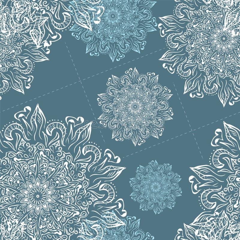 Weihnachtsnahtloses Vektor-Schneeflockenmuster Vervollkommnen Sie für den Druck auf Gewebe oder tapezieren Sie lizenzfreie abbildung