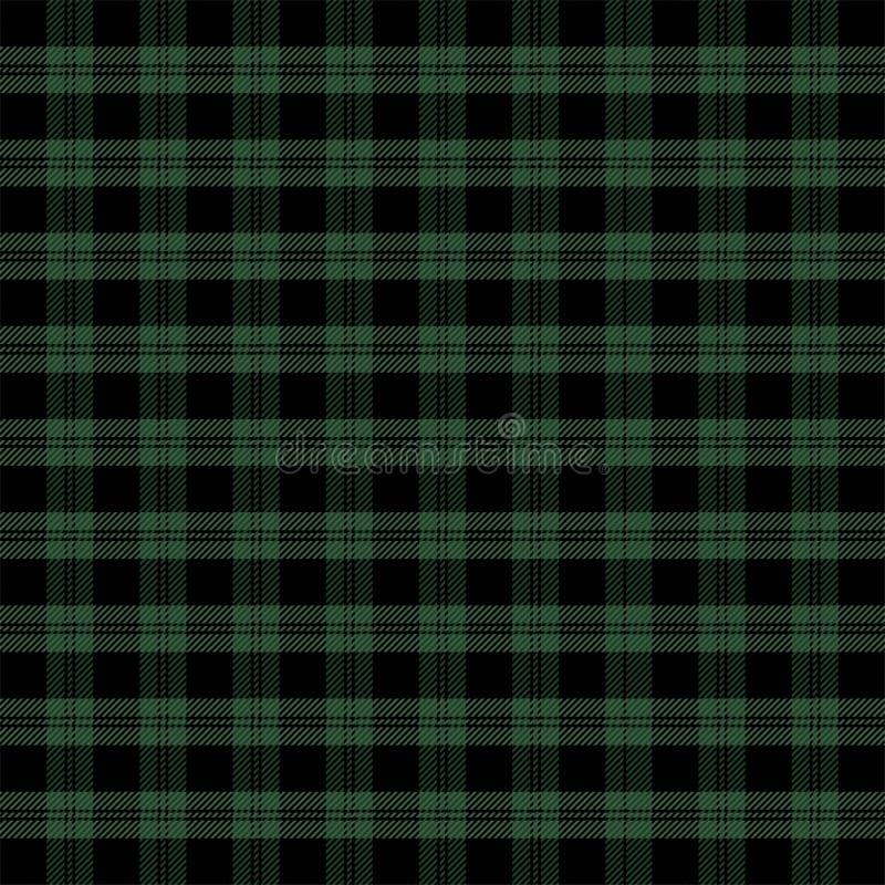 Weihnachtsneues Jahr Schottenstoff Muster Scottishkäfig vektor abbildung