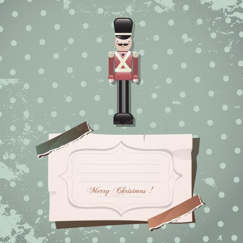 Weihnachtsnußknackersoldat stock abbildung
