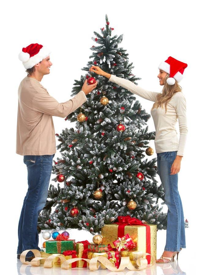Weihnachtspaare stockbild