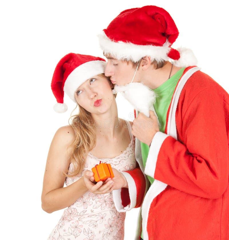 Weihnachtspaare lizenzfreies stockfoto