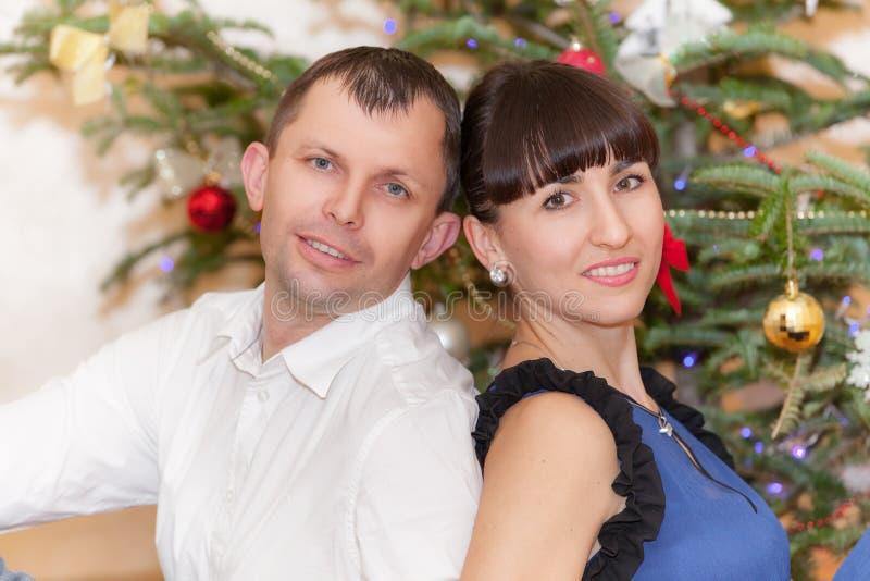Weihnachtspaare stockbilder