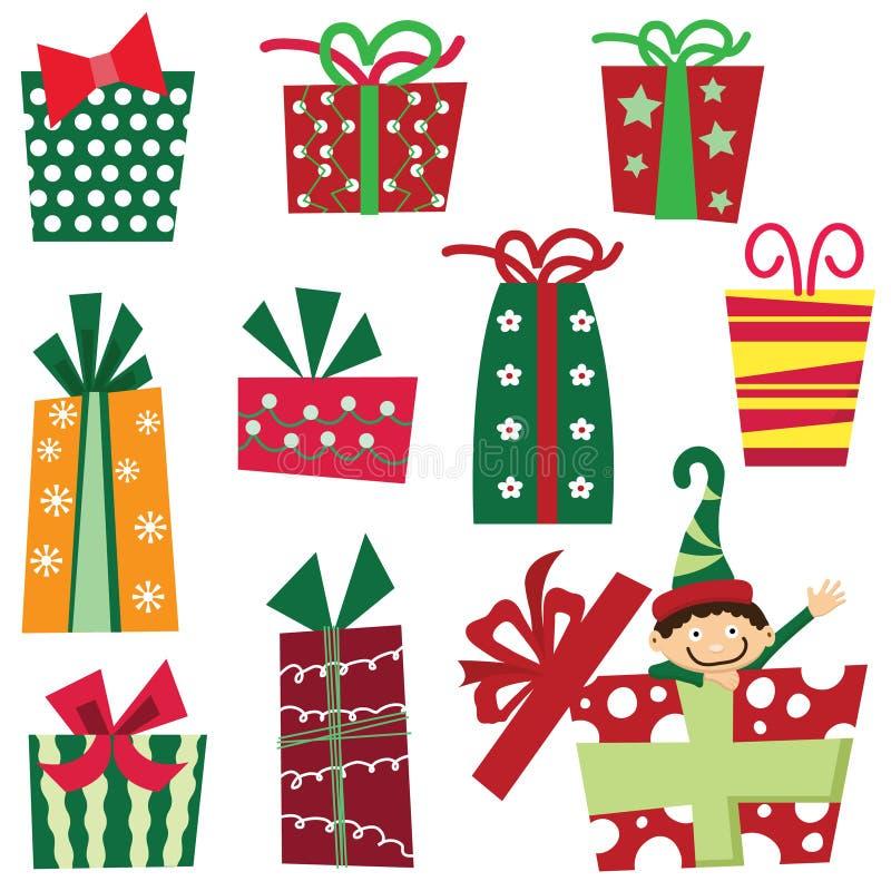 weihnachtspakete подарка на рождество иллюстрация штока