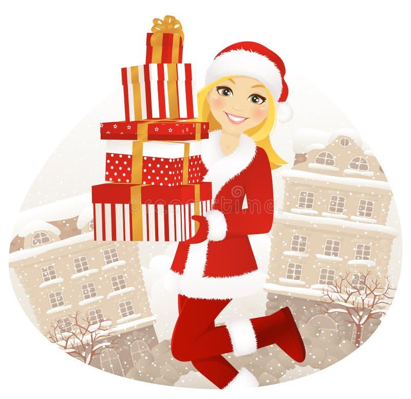 Weihnachtspakete - aanwezige Kerstmis royalty-vrije illustratie