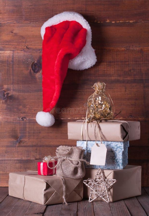 Weihnachtspakete - regalo de Navidad foto de archivo
