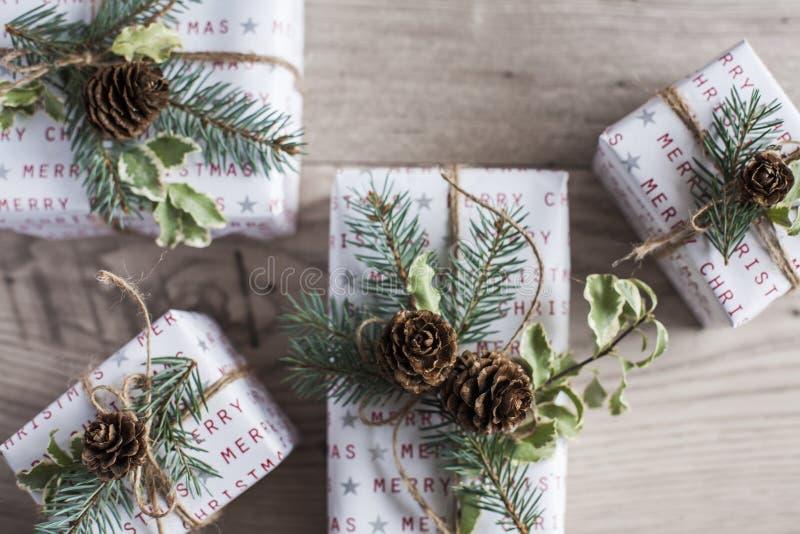 Weihnachtspakete - regalo di Natale fotografia stock