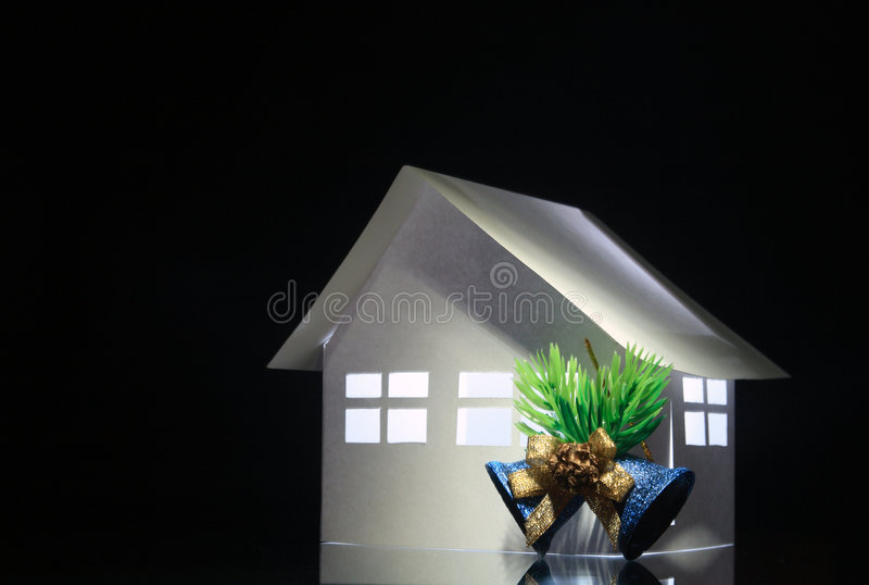 Weihnachtspapery Haus stockfotografie