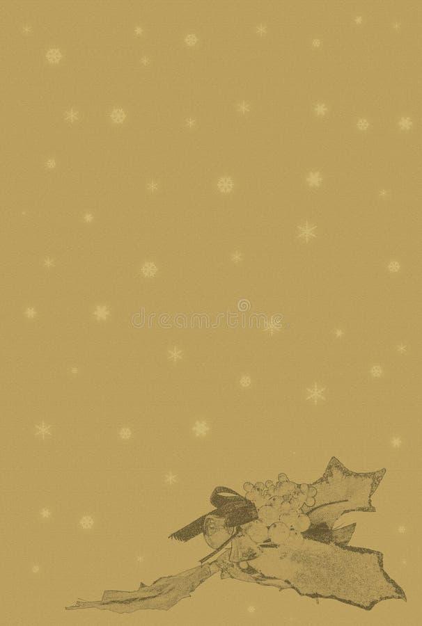 Weihnachtspergament 2 lizenzfreie abbildung