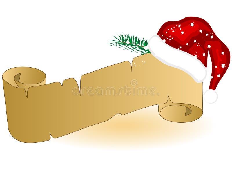 Weihnachtspergament stock abbildung