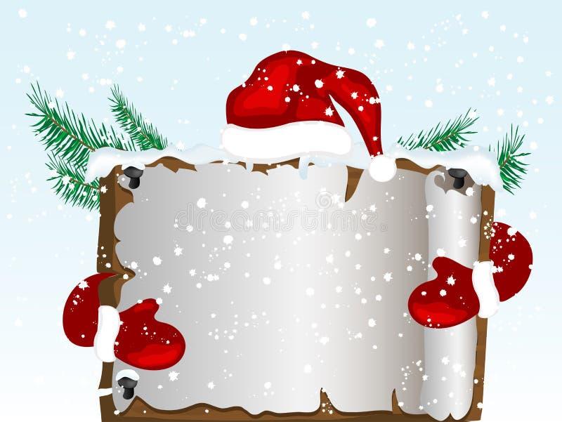 Weihnachtspergament lizenzfreie abbildung