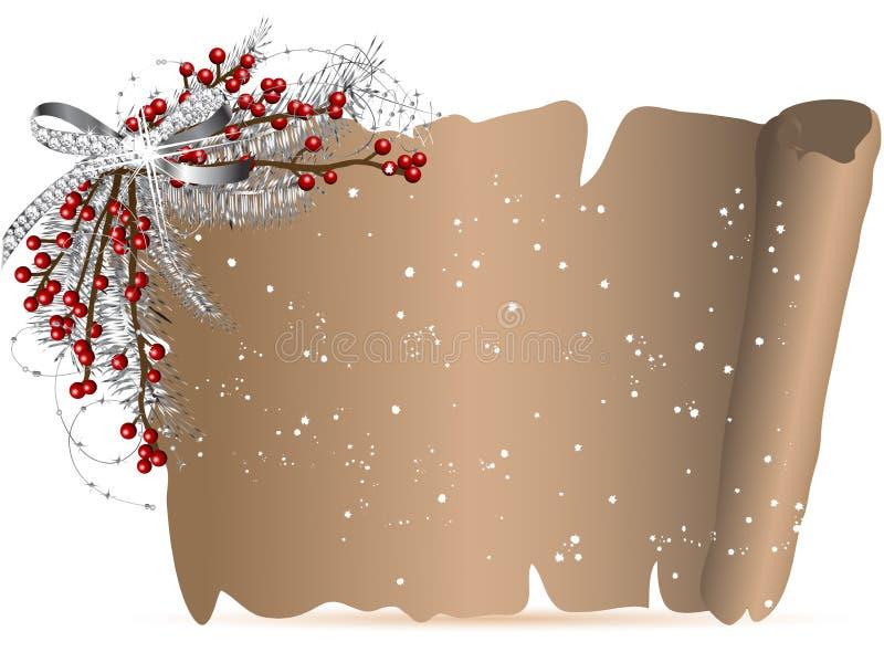 Weihnachtspergament vektor abbildung