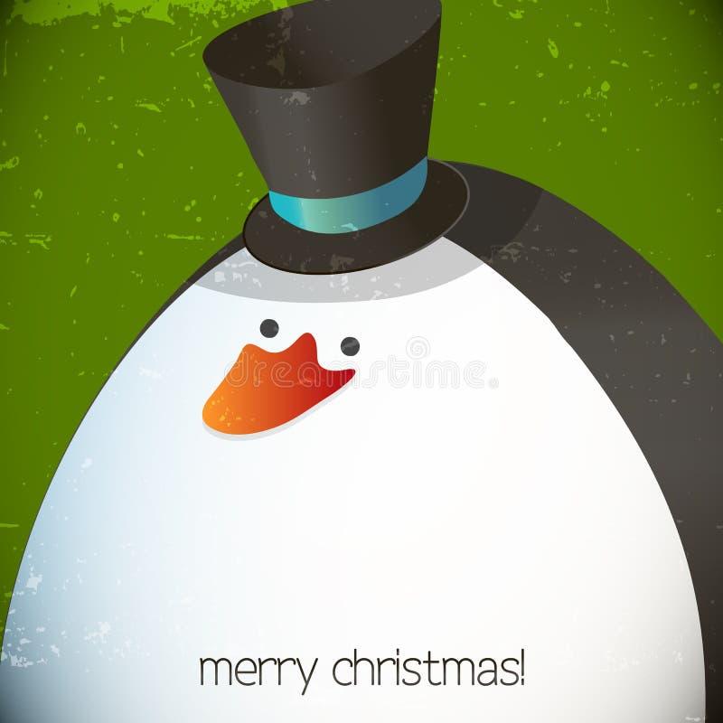 Weihnachtspinguinillustration lizenzfreie abbildung