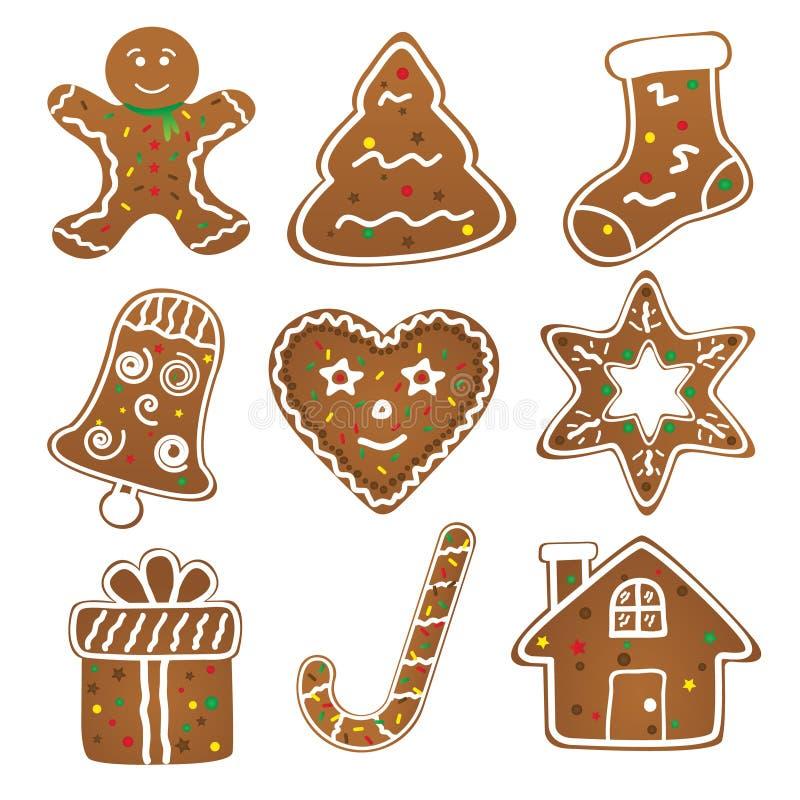 Weihnachtsplätzchen-Sammlung lizenzfreie abbildung