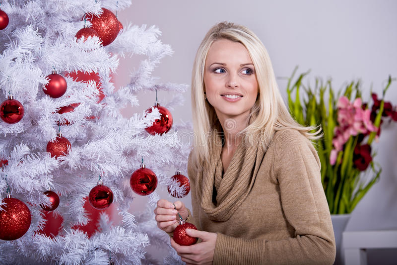 Weihnachtsportrait lizenzfreies stockbild