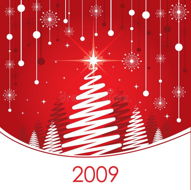Weihnachtspostkarte lizenzfreie abbildung