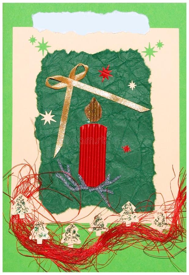 Weihnachtspostkarte handgemacht stock abbildung