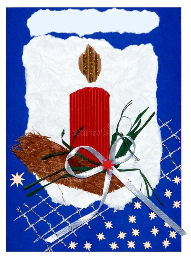 Weihnachtspostkarte handgemacht lizenzfreie abbildung