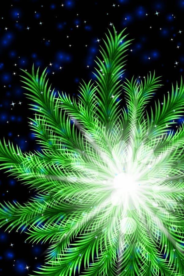Weihnachtspostkartendekoration stock abbildung