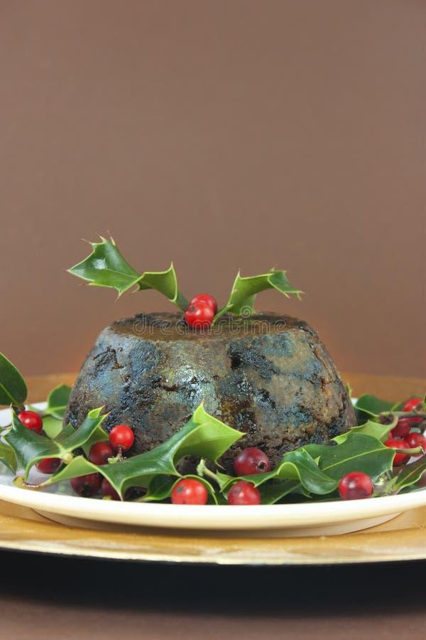 Weihnachtspudding stockfoto