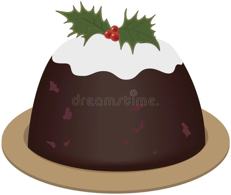 Weihnachtspudding lizenzfreie abbildung