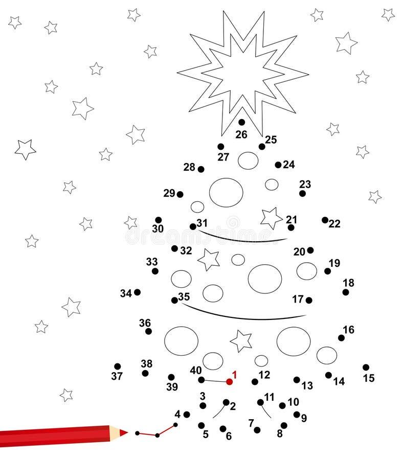 Weihnachtspunktspiel lizenzfreie abbildung