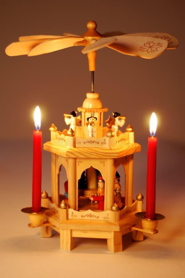 Weihnachtspyramide stockbild