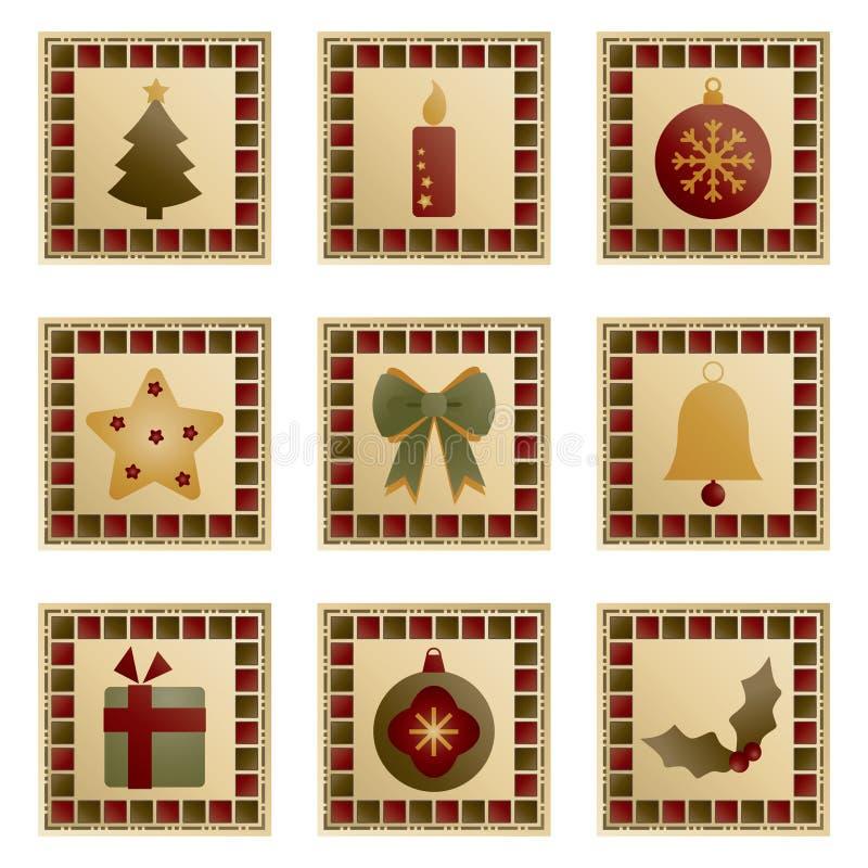 Weihnachtsquadrate lizenzfreie abbildung