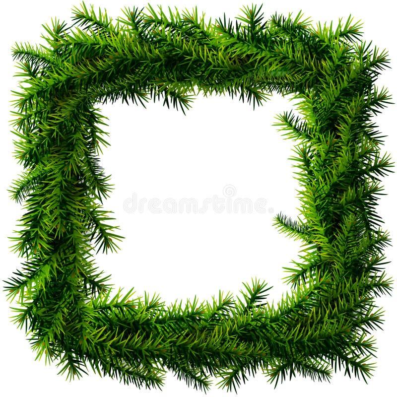 Weihnachtsquadratkranz ohne Dekoration stock abbildung
