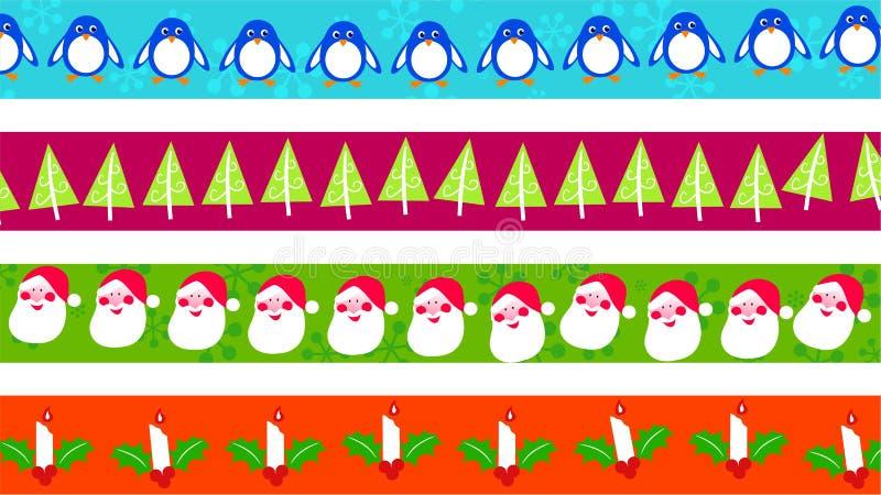 Weihnachtsränder vektor abbildung