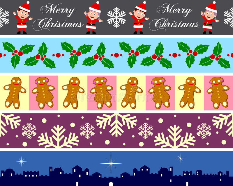 Weihnachtsränder eingestellt [4] lizenzfreie abbildung