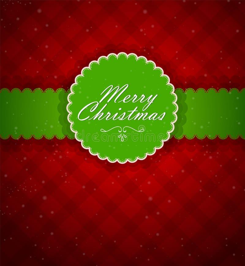 Weihnachtsrückseite lizenzfreie abbildung