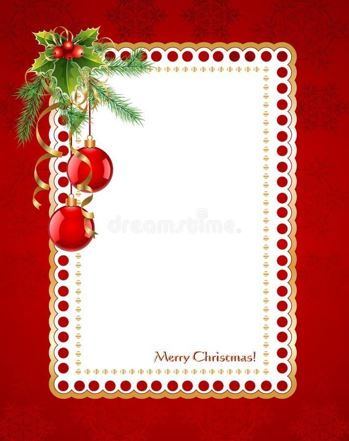 Weihnachtsrahmen vektor abbildung