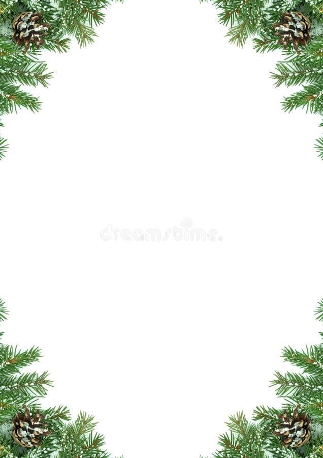 Weihnachtsrahmen mit Schnee lizenzfreies stockbild