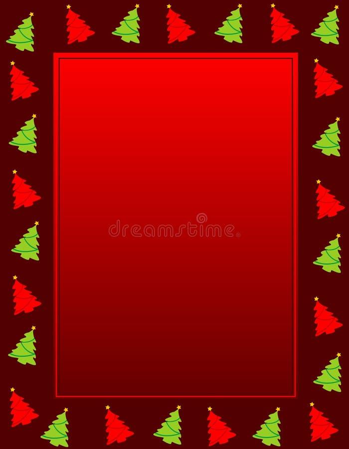 Weihnachtsrand stock abbildung