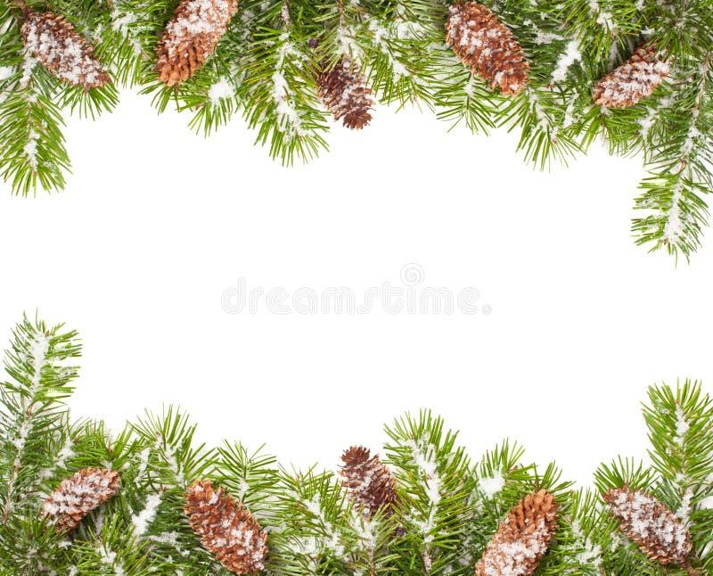 Download Weihnachtsrand stockbild. Bild von schneebedeckt, zweige - 21837737