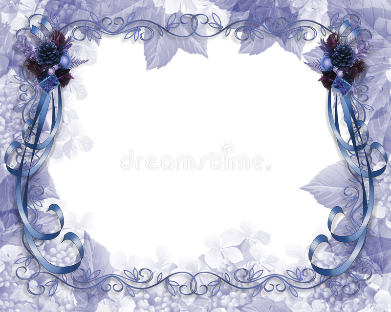 Weihnachtsrand-Blau lizenzfreie abbildung