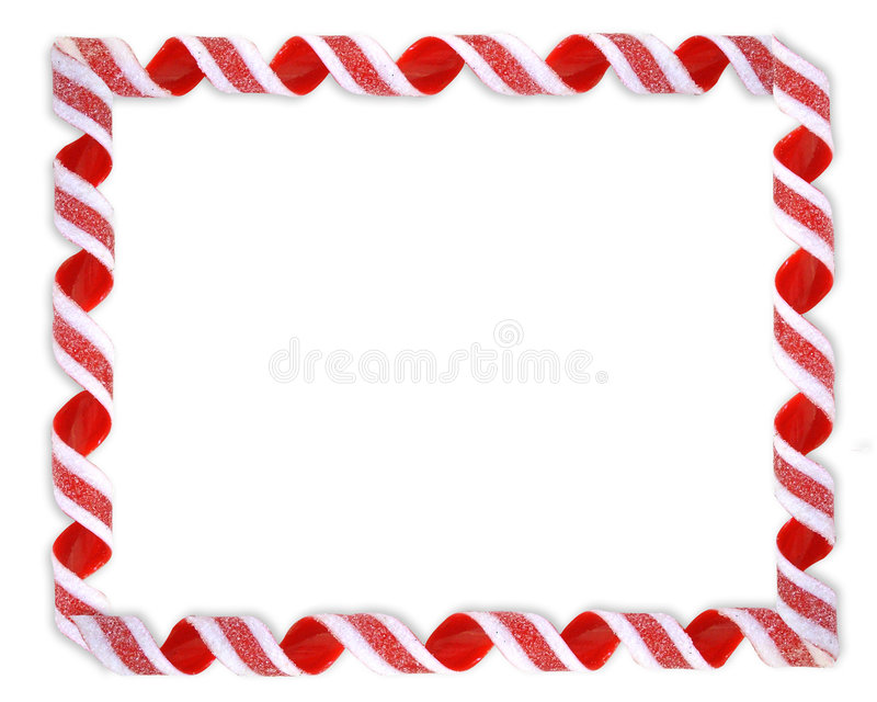 Weihnachtsrand-Farbband-Süßigkeit lizenzfreie abbildung