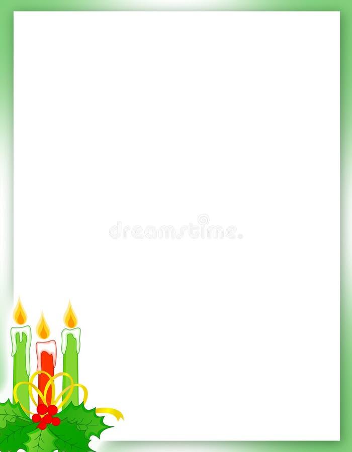 Weihnachtsrand/-hintergrund lizenzfreie abbildung