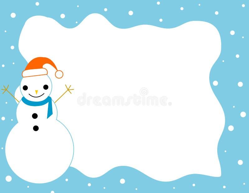 Weihnachtsrand-Schneemannfeld lizenzfreie abbildung