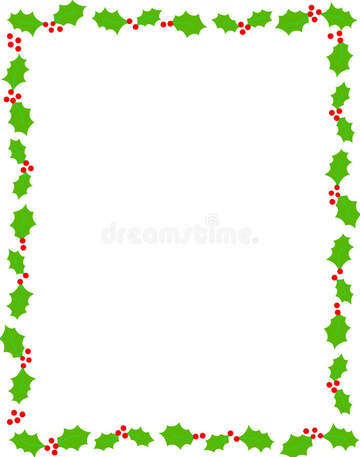 Weihnachtsrand/-stechpalme vektor abbildung
