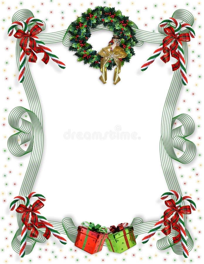 Weihnachtsrand traditionell vektor abbildung