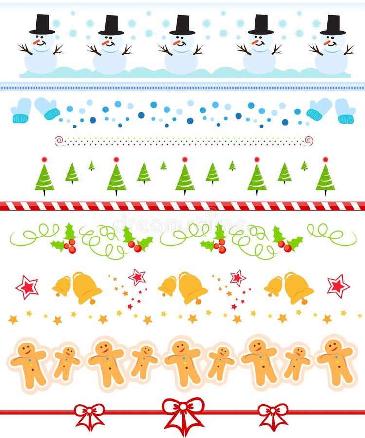 Weihnachtsrandansammlung stock abbildung