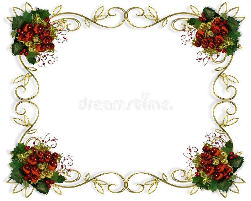 Weihnachtsrandfeld elegant vektor abbildung