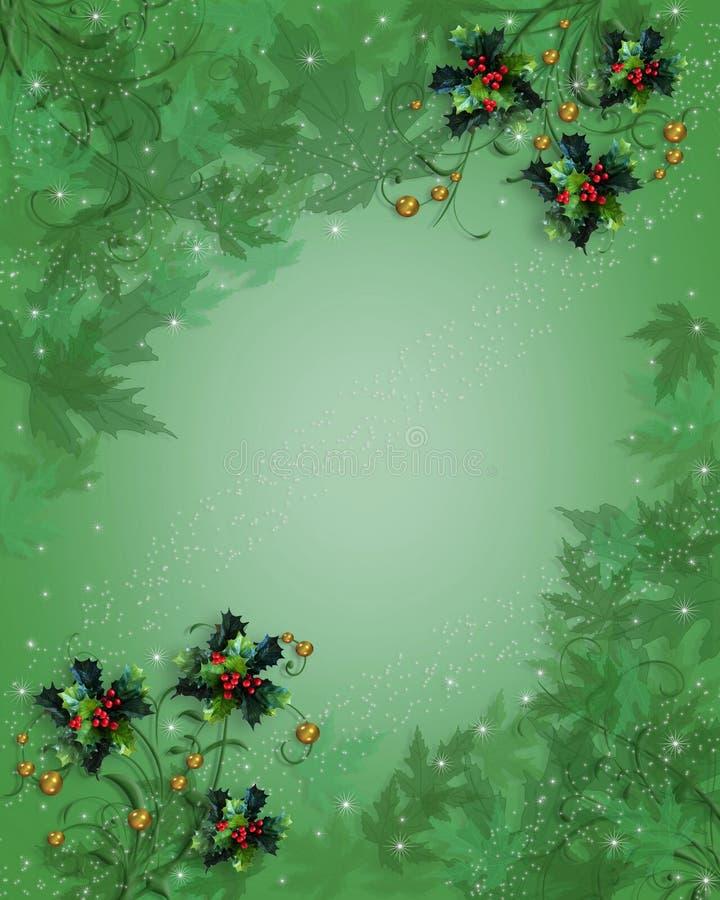 Weihnachtsrandstechpalme-Auszugsblätter vektor abbildung